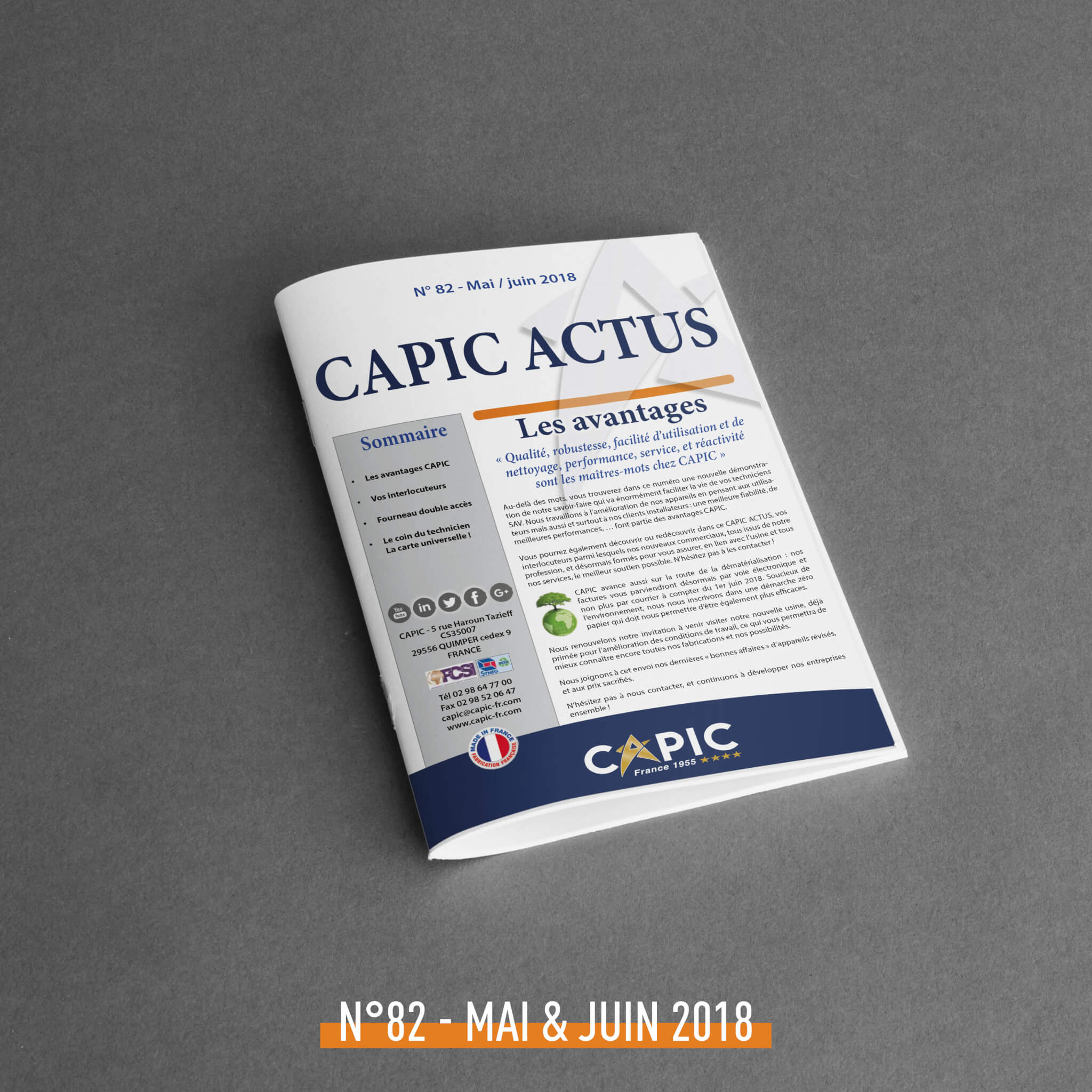 CAPIC ACTUS N° 82 – May / June 2018