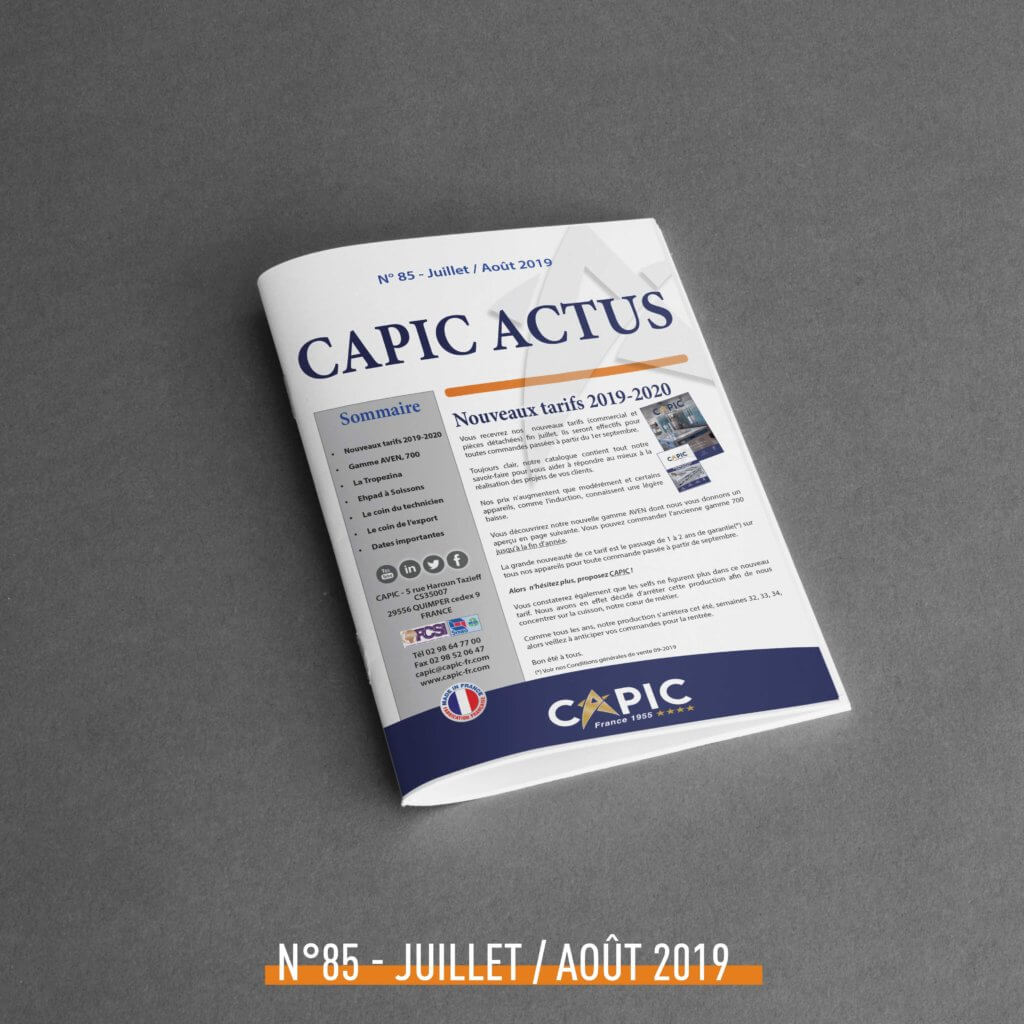 Capic Actus n°85 – Juillet / Août 2019